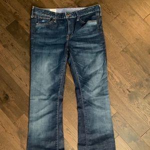 GAP Long & Lean Jeans, 14 Extra Long, Boot-Cut Leg